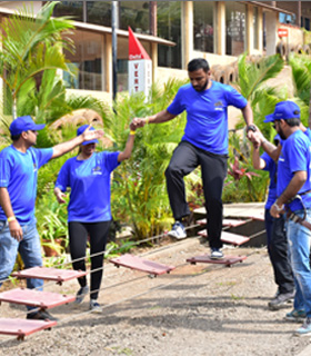 team building activities at della resorts