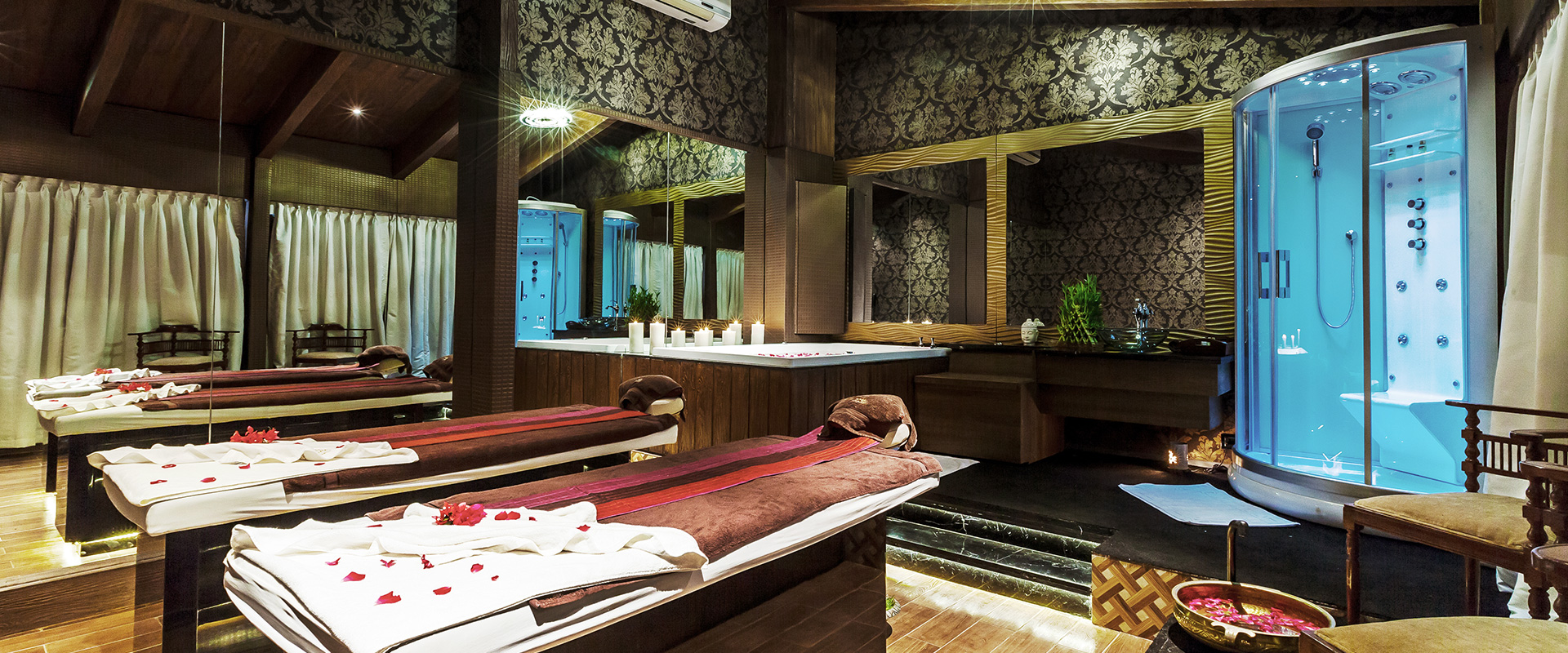 interiors of the spa service